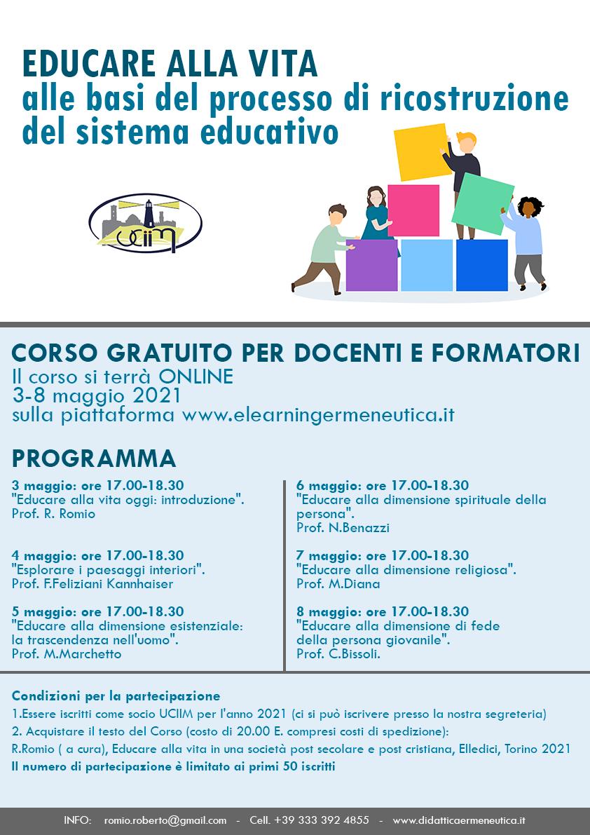 Educare alla vita: alle basi del processo di ricostruzione del sistema educativo